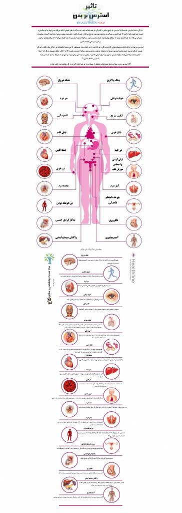 تاثیر استرس بر بدن